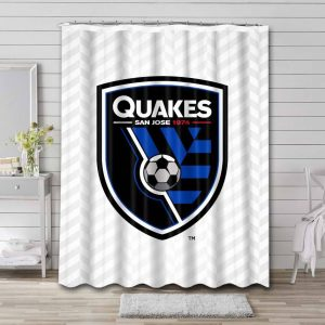 San Jose Earthquakes MLS Shower Curtain Waterproof Polyester