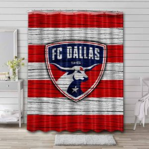 FC Dallas Soccer Shower Curtain Waterproof Polyester