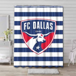FC Dallas Shower Curtain Waterproof Polyester