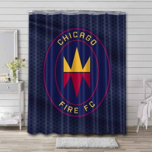 Chicago Fire FC Logo Shower Curtain Waterproof Polyester