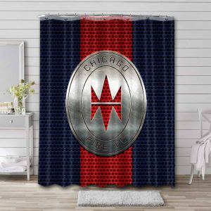 Chicago Fire FC Shower Curtain Bathroom Decoration Waterproof Polyester Fabric.