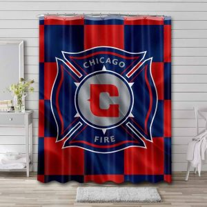Chicago Fire FC Shower Curtain Waterproof Polyester