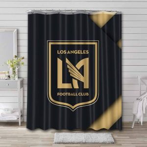 Los Angeles FC Soccer Shower Curtain Waterproof Polyester