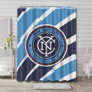 New York City FC Soccer Shower Curtain Waterproof Polyester