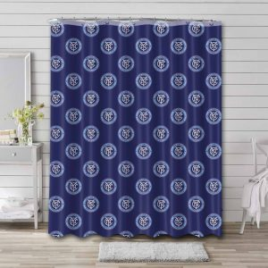 New York City FC Pattern Shower Curtain Waterproof Polyester