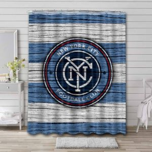 New York City FC Shower Curtain Waterproof Polyester
