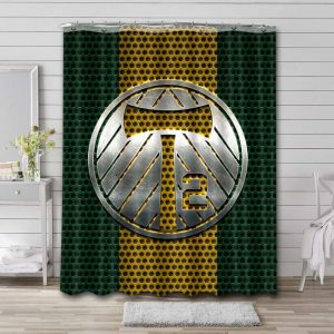 Portland Timbers Shower Curtain Bathroom Decoration Waterproof Polyester Fabric.