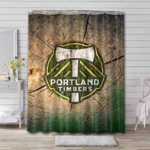 Portland Timbers Shower Curtain Waterproof Polyester