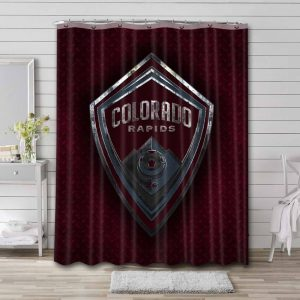 Colorado Rapids Soccer Shower Curtain Waterproof Polyester