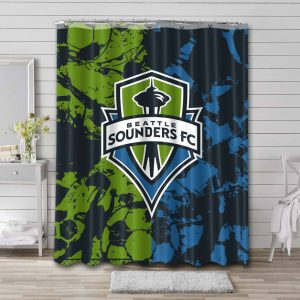 Seattle Sounders FC Soccer Shower Curtain Waterproof Polyester