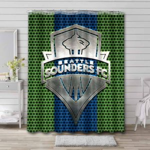 Seattle Sounders FC Shower Curtain Bathroom Decoration Waterproof Polyester Fabric.