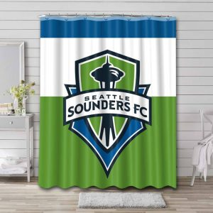 Seattle Sounders FC Shower Curtain Waterproof Polyester