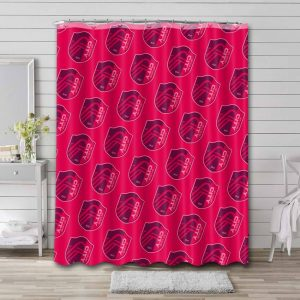 St. Louis City SC Shower Curtain Bathroom Decoration Waterproof Polyester Fabric.