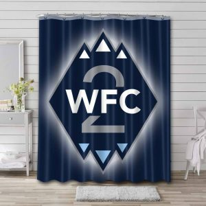 Vancouver Whitecaps FC Soccer Waterproof Curtain Bathroom Shower