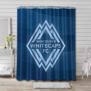 Vancouver Whitecaps FC Soccer Shower Curtain Bathroom Waterproof