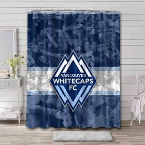 Vancouver Whitecaps FC Soccer Shower Curtain Waterproof Polyester