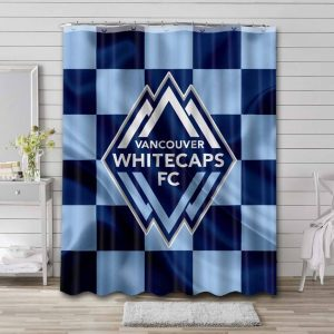 Vancouver Whitecaps FC Shower Curtain Bathroom Decoration Waterproof Polyester Fabric.