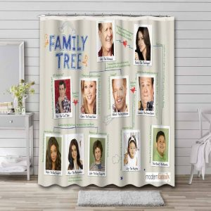 Modern Family Characters Shower Curtain Bathroom Decoration