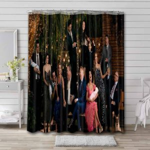 Modern Family Characters Shower Curtain Waterproof Polyester