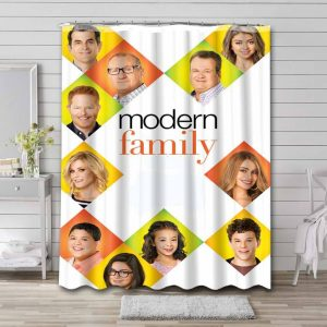 Modern Family Shower Curtain Waterproof Polyester