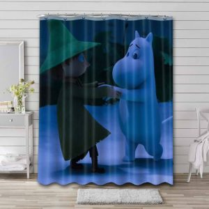Moominvalley Shower Curtain Waterproof Polyester