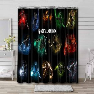 Mortal Kombat All Characters Shower Curtain Waterproof Polyester