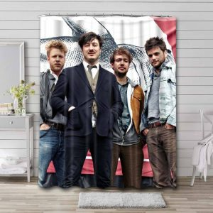 Mumford & Sons Rock Band Shower Curtain Waterproof Polyester