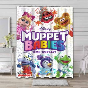 Muppet Babies Characters Shower Curtain Waterproof Polyester