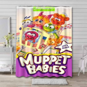 Muppet Babies Shower Curtain Bathroom Decoration Waterproof Polyester Fabric.