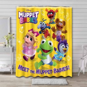 Muppet Babies Characters Shower Curtain Bathroom Decoration