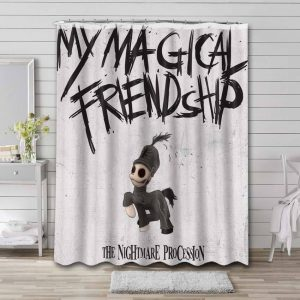 My Chemical Romance The Nightmare Procession  Shower Curtain Bathroom Waterproof