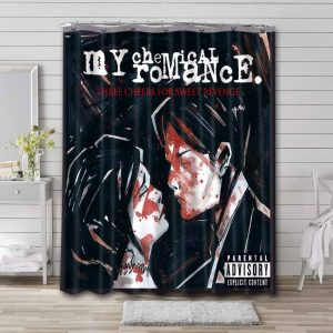 My Chemical Romance Three Cheers For Sweet Revenge Shower Curtain Bathroom Decoration