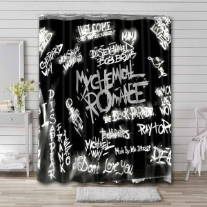 My Chemical Romance Shower Curtain Waterproof Polyester