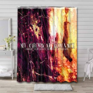 My Chemical Romance I Brought You My Bullets Bathroom Shower Curtain Waterproof