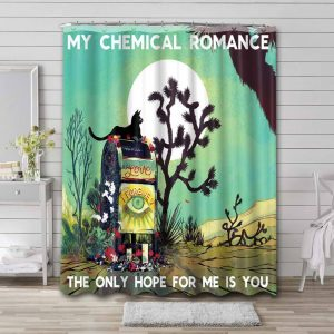 My Chemical Romance The Only Hope For Me Is You Waterproof Bathroom Shower Curtain