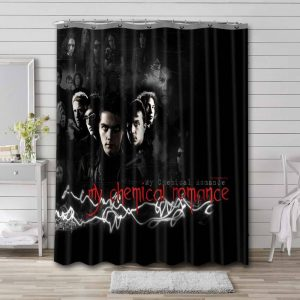 My Chemical Romance Rock Band Shower Curtain Waterproof Polyester