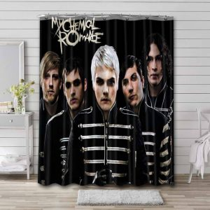 My Chemical Romance Shower Curtain Bathroom Decoration Waterproof Polyester Fabric.