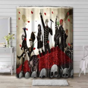 My Chemical Romance The Black Parade Bathroom Shower Curtain Waterproof