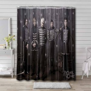 My Chemical Romance The Black Parade Waterproof Shower Curtain Bathroom