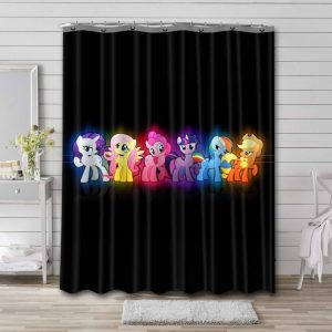 My Little Pony All Characters Waterproof Curtain Bathroom Shower