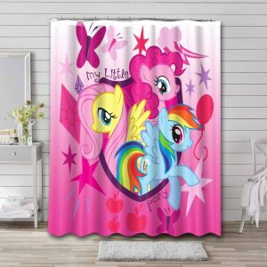 My Little Pony Shower Curtain Waterproof Polyester