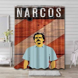 Narcos Pablo Escobar Shower Curtain Waterproof Polyester