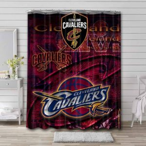 Cleveland Cavaliers Shower Curtain Bathroom Decoration Waterproof Polyester Fabric.