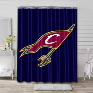 Cleveland Cavaliers Basketball Shower Curtain Waterproof Polyester