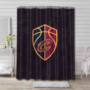 Cleveland Cavaliers Team Shower Curtain Waterproof Polyester