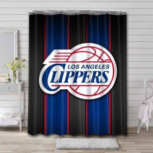 Los Angeles Clippers Logo Shower Curtain Bathroom Decoration
