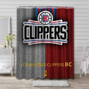 Los Angeles Clippers Basketball Shower Curtain Bathroom Decoration