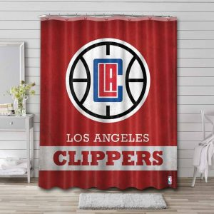 Los Angeles Clippers NBA Shower Curtain Waterproof Polyester