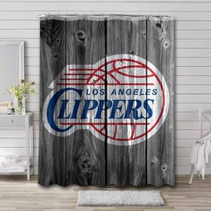 Los Angeles Clippers Shower Curtain Bathroom Decoration