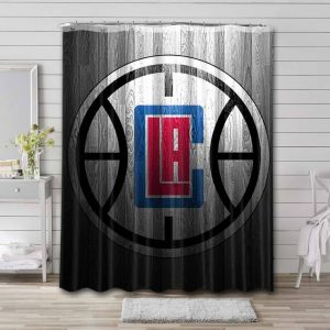 Los Angeles Clippers Shower Curtain Waterproof Polyester